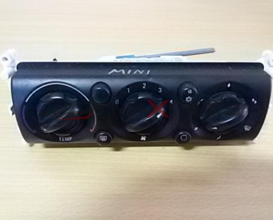 MINI 2006 Heater Climate Controls
